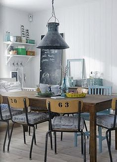 Hmmm....I might do this to my kitchen dining chairs (old school chairs)
