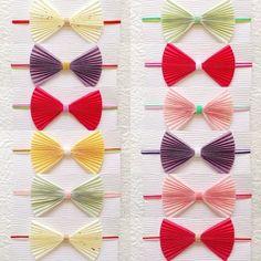 こちらはご祝儀袋に結ぶ蝶ネクタイの水引です。 水引の世界では新感覚のアイテムでありながらしっくりカワイイですね♡