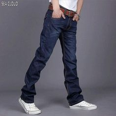 Sea Cloud Free shipping plus size 50 52 mens hip hop pants military men cotton jeans casual trousers Loose straight man pants #Affiliate