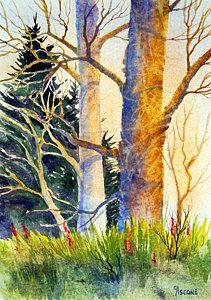 Shadow Patterns II Print by Teresa Ascone