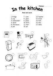 Small Kitchen Tools Scramble Answers