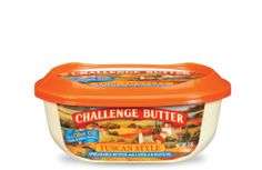 Challenge Butter, Tuscan Style, with roasted garlic and herbs.  Wonderful in scrambled eggs.