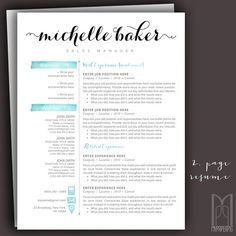 Creative Resume Names name of resumes Resume Template And Cover Letter Template By Mypaperpig On Etsy