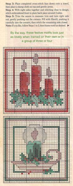 Belle et Boo fille et Postbox dans la neige christmas cross stitch chart