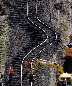 Train tracks distorted
