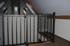 JvD interieur slaapkamer kasten onder schuine kant + hekwerk in samenwerking met Aarts Metal Farmers