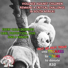 Violence against children remains a critical challenge in South Africa! Tekkie Tax benefits 32 Child Protection Organisations. You can make a difference in a child's life! SMS TTCARES to 42646 to make a R30 donation. We turn your donations into food, shelter, protection and most of all LOVE and comfort for these precious little ones!  #tekkietax #makethecirclebigger #takehands #lovingtekkies #VirtualHug #1000000Hugs Virtual Hug, Love Is All, Disability, Little Ones, South Africa, Shelter, Wings, Challenges, Inspire