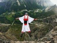 Alexander Polli Tracksuit Wingsuit Diving In New Zealand, Switzerland & Norway | This Is Awesome