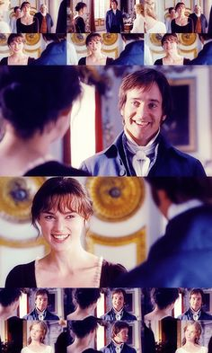 Pride & Prejudice (2005) -starring Keira Knightley as Elizabeth Bennet + Matthew MacFayden as Mr. Darcy - They are engaged to be married! <3