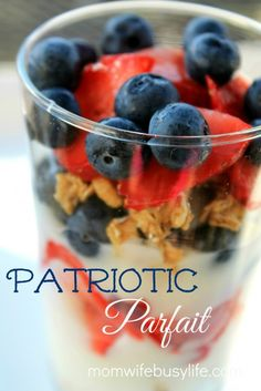Patriotic Parfait Recipe #4thofJuly #patriotic #fourthofjuly