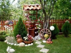 15 DIY Garden Ideas For Your Home 15 idéias de jardim DIY para sua casa Garden Yard Ideas, Garden Projects, Garden Art, Garden Decorations, Christmas Decorations, Table Decorations, Home Garden Design, Garden Landscape Design, Do It Yourself Garten