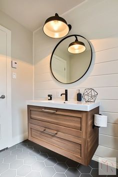 Keep your bathroom feeling open and bright instead of dark and cluttered with these modern bathroom lighting ideas and tips. Keep your bathroom feeling open and bright instead of dark and cluttered with these modern bathroom lighting ideas and tips. Downstairs Bathroom, Bathroom Renos, Bathroom Flooring, Bathroom Interior, Small Bathroom, Ikea Bathroom Vanity, Bathroom Remodeling, Bathroom Fixtures, Master Bathroom