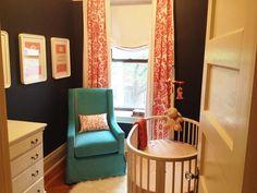 Love this small space nursery! Preparing for #baby? Visit www.nourishbaby.com.au