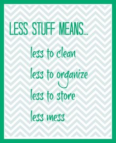 less stuff means printable
