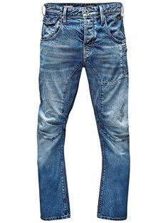 CORE by JACK & JONES - Anti-Fit-Jeans von CORE - Long rise - Lockere Oberschenkelform - Bequem an den Knien - Normaler Beinabschluss - Knopfleiste - Geknöpfte Taschen  Charakteristische Utility-Details sorgen bei dieser Stan Jeans aus klassisch blauem Denim für Kontraste. Nähte, die sich rund um die Knie und von den Innenseiten der Oberschenkel zur Vorderpartie erstreckten, betonen die struktur...