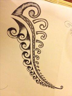 Rough Polynesian fern design