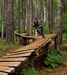 Mountain biking enthusiasts and land agencies worked together to create this free riding Mecca, featuring man-made elements such as ladders, wall rides, gap jumps and more. Black Rock Mountain Biking Area, located west of Salem, Oregon.