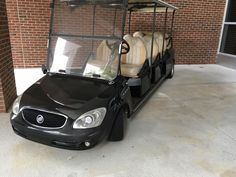 """This """"luxury"""" Buick golf cart used to give campus tours at my university. http://ift.tt/2q4k0rk"""
