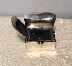 Antique English Victorian Sterling Silver Travel Inkwell