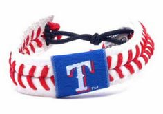Gamewear MLB Leather Wrist Band - Rangers