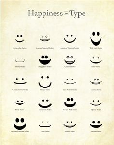 Happiness in Type