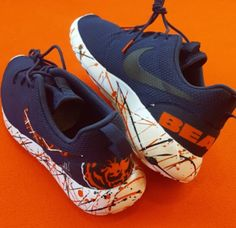 a14fa4d8cb6 Chicago Bears Shoes -Nike Roshe One Custom  Bear Down  Edition Chicago  Bears Shoes