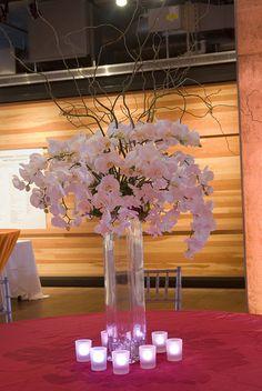 Floral Centerpiece.   //////////.     Vietnamese / English wedding invitation @ www.ThiepCuoiCali.com.   /////////