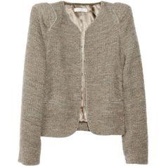 Sandro Vendetta alpaca and wool-blend jacket ❤ liked on Polyvore