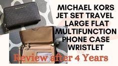 Michael Kors | Jet Set Travel Large Flat Multifunction Phone Case Wristlet | She Review - YouTube Michael Kors Jet Set, Phone Case, Flats, Handbags, Wallet, Youtube, Travel, Women, Loafers & Slip Ons