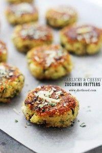Garlicky & Cheesy Quinoa Zucchini Fritters Recipe | Diethood