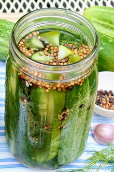 Refrigerator Dill Pickles - Refrigerator - Trending Refrigerator for sales. - Refrigerator Dill Pickles No canner is needed and once the spices are assembled these crisp pickles come together easily and may just become a summertime favorite! Refridgerator Pickles Dill, Homemade Refrigerator Pickles, Refrigerator Pickle Recipes, Homemade Pickles, Kitchen Refrigerator, Garlic Dill Pickles, Pickled Garlic, Quick Pickled Cucumbers, Fried Pickles