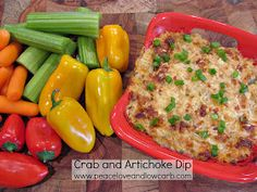 Peace, Love, and Low Carb: Crab and Artichoke Dip