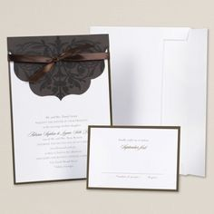 Such an elegant wedding invitation
