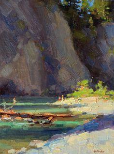 Van Duzen River, Afternoon Shadows by Jim McVicker