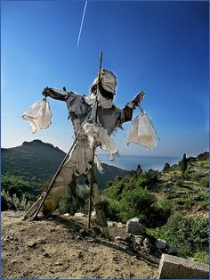 Scarecrow near Stavros, Greece/Ikaria