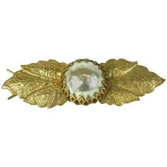 Miriam Haskell Baroque Pearl Barette | From a unique collection of vintage more jewelry at https://www.1stdibs.com/jewelry/more-jewelry-watches/more-jewelry/