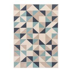 Dywan Canvas 120 x 170 cm niebieskie trójkąty