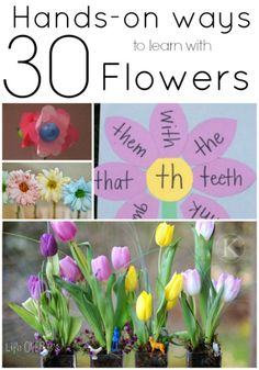 30  Hands-On Flower Activities. Math activities, word family flower crafts, science experiments... lots of flower stuff.
