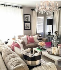 Family Room, Couch, Interior, Living Rooms, Furniture, House Ideas, Decorations, Home Decor, Sweet