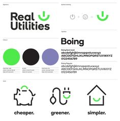 Real Utilities Brand ID on Behance Corporate Design, Corporate Branding, Brand Identity Design, Logo Branding, Branding Design, T Logo, Ci Design, Brochure Design, Logo Guidelines