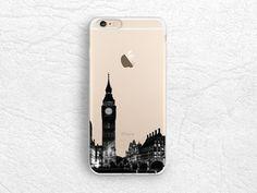 London City View iPhone 6/6s transparent case, Big Ben photo phone case for LG G4, Sony Z3 Z5, Moto X2nd gen, Samsung S6, HTC One M8 M9 -A14