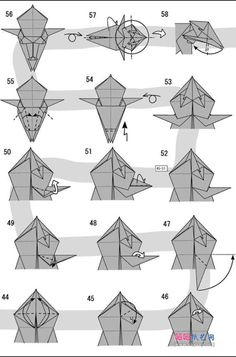 Learn to make an origami lion by T Gotani. This is a hard model so be prepared. Free origami instructions for lots of models Origami Lion, Star Wars Origami, Origami Yoda, Origami Dragon, Origami Animals, 3d Origami, Origami Boxes, Dollar Origami, Origami Bookmark
