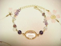 purple bracelet purple beaded bracelet purple and by Coloramelody, ¥630