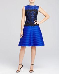 Tadashi Shoji Sleeveless Fit and Flare Dress