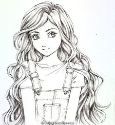Disney Art Drawings Sketches Pencil Hair Ideas – Welcome Cute Girl Drawing, Girly Drawings, Art Drawings Sketches Simple, Pencil Art Drawings, Cartoon Drawings, Disney Drawings, Pencil Sketch Art, Teenage Girl Drawing, Sketches Of Girls