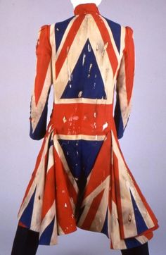 Union Jack - David Bowie's coat from Earthings.  Made by Bowie and Alexander McQueen.