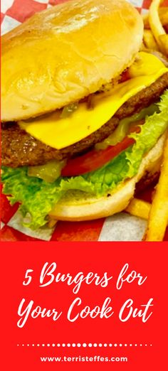 A compilation of burgers from Our Good Life that are tried and tested! Delicious, meaty, but there is one vegetarian option, too!  #MemorialDay #Burgers #BurgerMonth