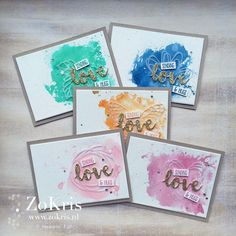 Stampin' Up! - Sunshine Sayings, #watercoloring, #incolors - ZoKris {check my blog for more pics}