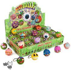 Madballs Vinyl Keychain Series - Sealed Case of 24 by Kidrobot