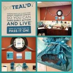 """@rachlneff's photo: """"#instacollage #getteald  #gotTEALD #nocc #ovca #ovcr #ovariancancer #ovariancancerawareness #ovariancancerawareness2014 #teal #tealwarrior #tealisabigdeal #tealyourfriends #itskindofabigteal #knowthesymptoms #whyteal #wearteal"""" Ovarian Cancer Awareness, Your Turn, Live In The Now, Teal, Board, Sign, Turquoise"""